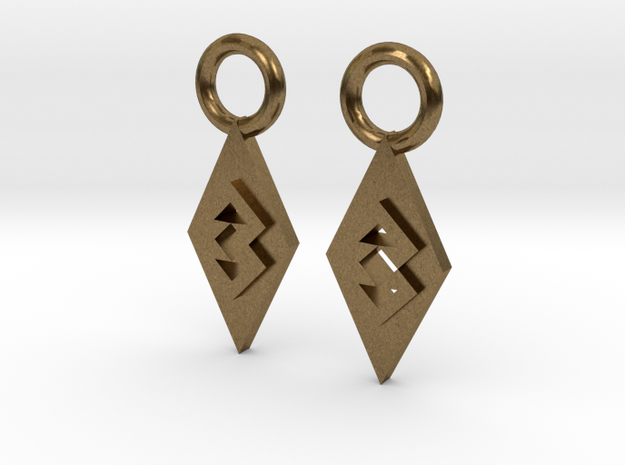 TriangleEarrings in Natural Bronze