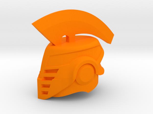Iron Camelot Helm in Orange Processed Versatile Plastic