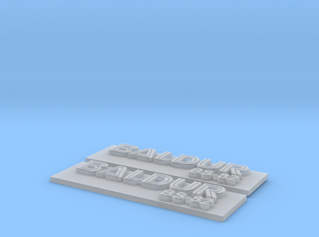 Baldur Nameplate Package in Smoothest Fine Detail Plastic