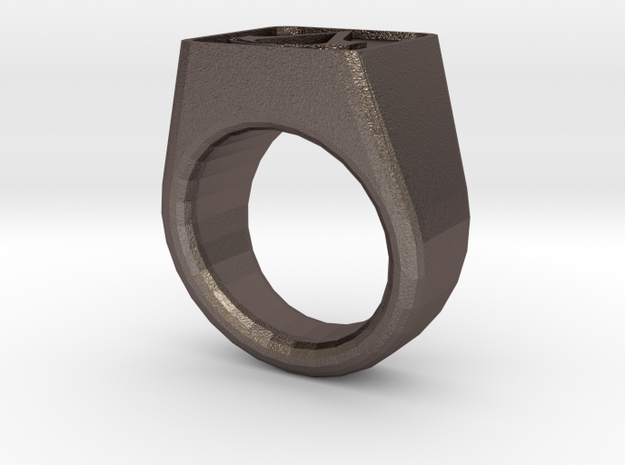 Assassin's Signet Ring in Black Acrylic