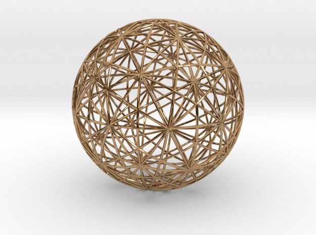 Symmetry sphere for icosahedron in Polished Brass