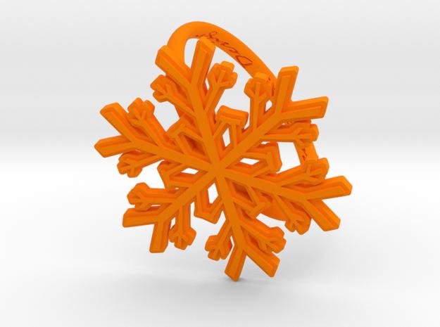 Snowflake Ring 1 d=19.5mm h21d195 in Orange Processed Versatile Plastic
