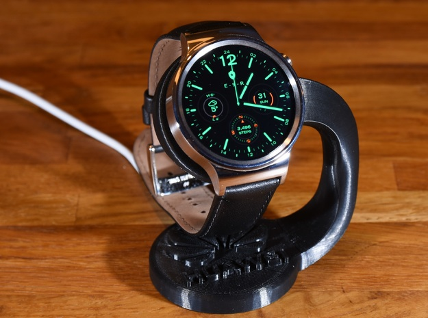 Huawei Watch charging stand in White Processed Versatile Plastic