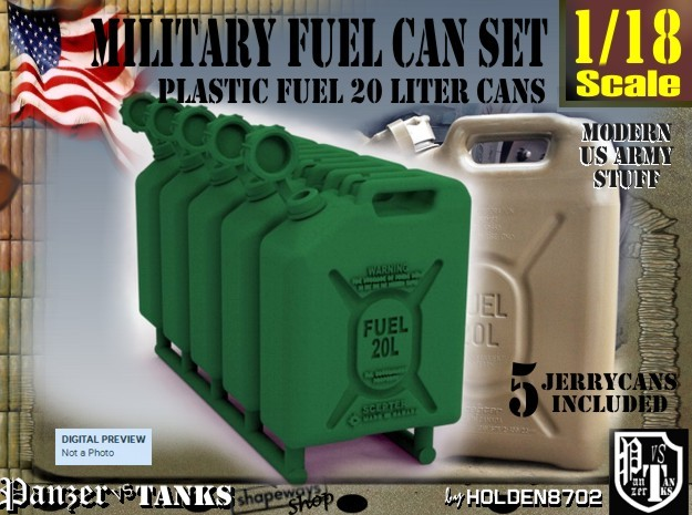 1-18 Military Fuel Can 5 Units