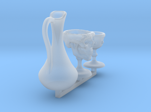 Chalice of Malice - Drinking Skull Set for 1:48 in Smooth Fine Detail Plastic