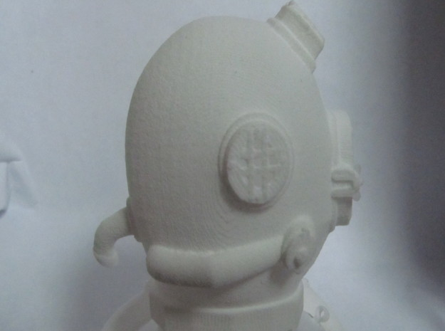 Mini DIVING helmet 1 inch tall   3d printed close up side