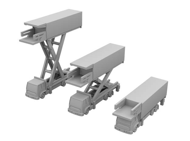 1:400_Catering Trucks [x3][A] in Smooth Fine Detail Plastic