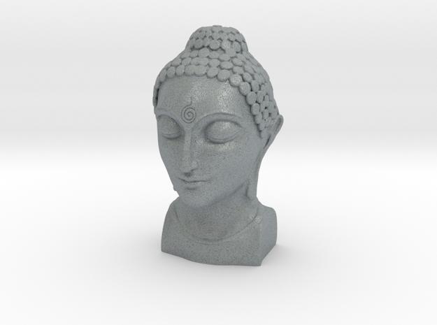 Bust of Buddha in Polished Metallic Plastic