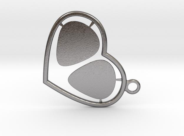 GPick Heart key accessory  in Polished Nickel Steel