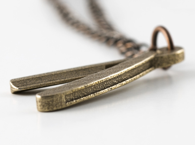 Straight Razor Necklace 3d printed