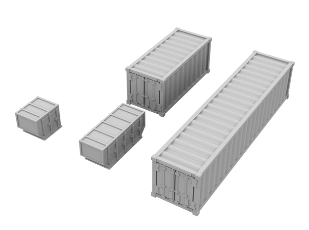 1:200_Containers [x40][A] in Smooth Fine Detail Plastic