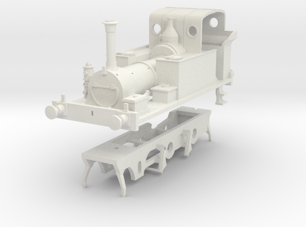 PLA Millwall Extension Railway 2. 4. 0t kit in White Natural Versatile Plastic