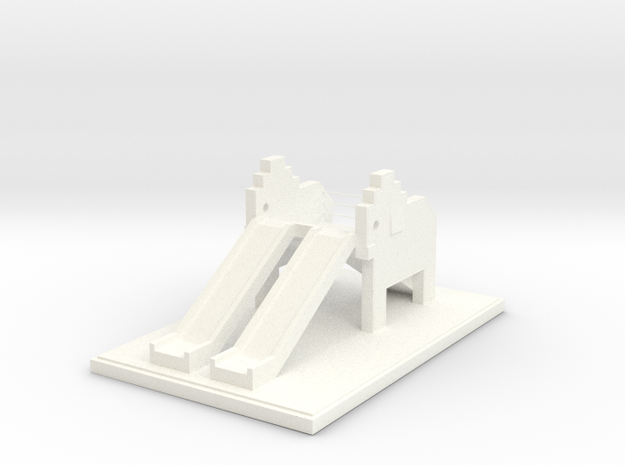 Elephant Playground in White Processed Versatile Plastic