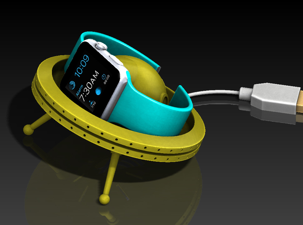 Apple Watch Charging Dock - UFO in Yellow Strong & Flexible Polished