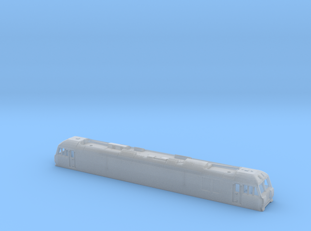 Class 92 Body Shell for N Gauge, 1:148th Scale 3d printed