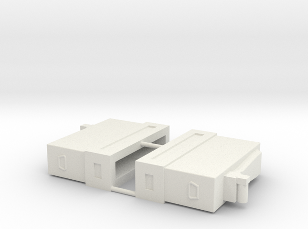 Mini Gun Ammo Boxes x 2 1/12 in White Natural Versatile Plastic