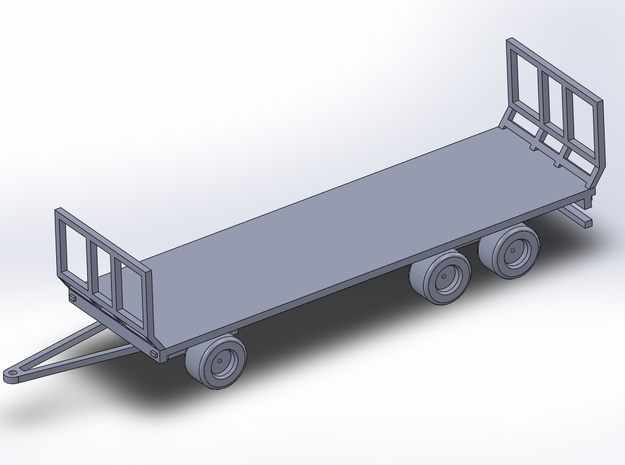 1:160/N-Scale Flat/Hay Trailer  in Frosted Ultra Detail