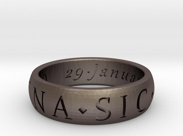 Size 9 Sir Francis Drake, Sic Parvis Magna Ring