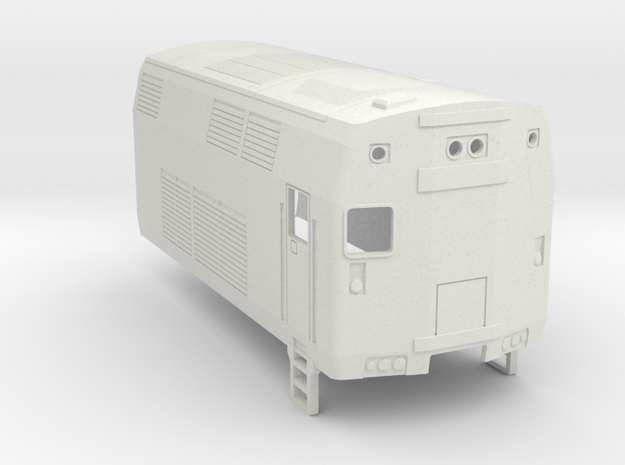 P32 Locomotive  Rear Section - H0 Scale in White Natural Versatile Plastic