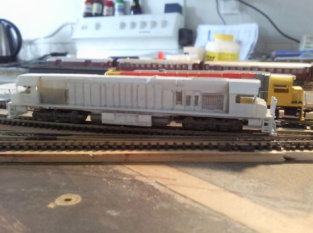 """Toll Rail DK-2 Locomotive Proposal """"A"""" 3d printed Printed in Frosted Ultra Detail, Model detailed by Jolon"""