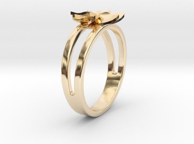 Flower Ring Size 6.5 in 14K Gold