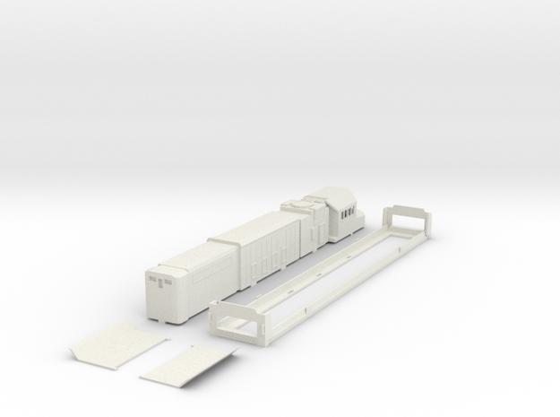 Australian BRM class H0 scale locomotive bodyshell in White Strong & Flexible