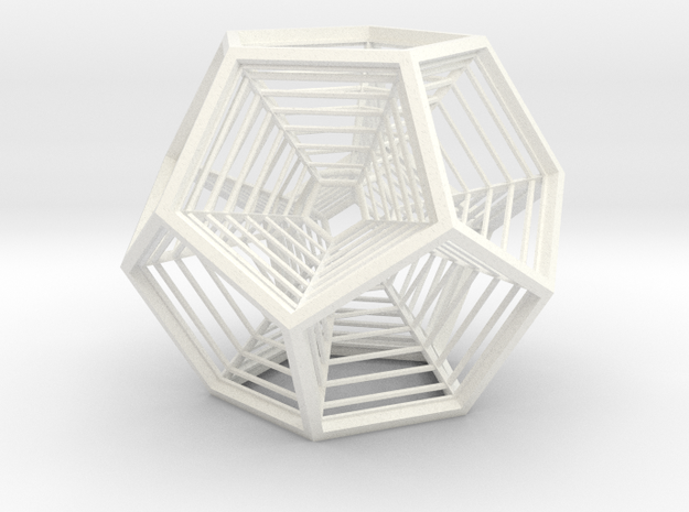 Nested Dodecahedral Engram in White Processed Versatile Plastic