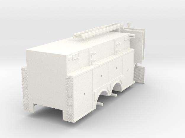 Rosenbauer Pumper Tanker Body 1/64 in White Processed Versatile Plastic