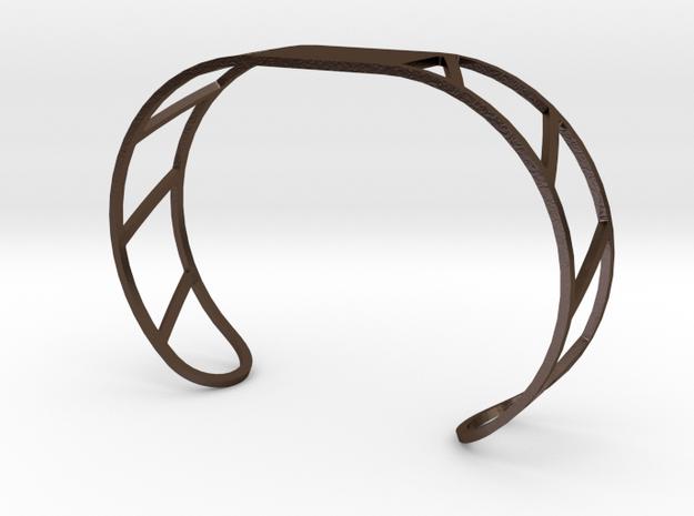 Custom Bracelet 40mm X 30mm in Polished Bronze Steel