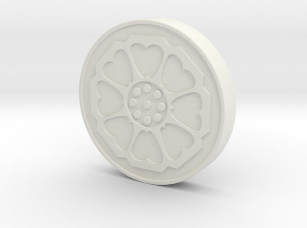 Avatar: the Last Airbender - White Lotus Tile in White Strong & Flexible