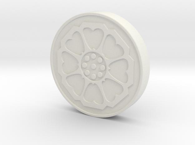 Avatar: the Last Airbender - White Lotus Tile in White Natural Versatile Plastic