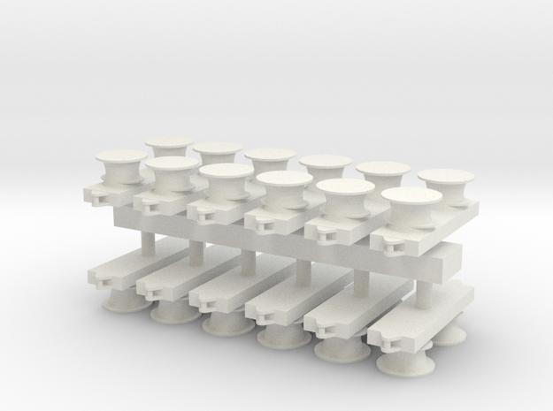 1:96 Bit / Meduim Modern Short .64 inch in White Natural Versatile Plastic