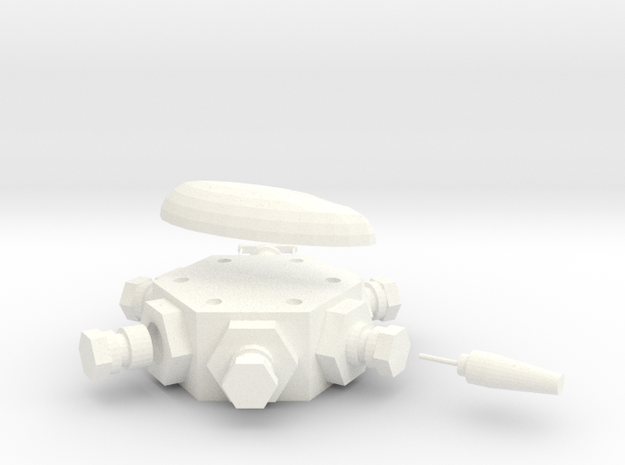 Multidetonator in White Processed Versatile Plastic