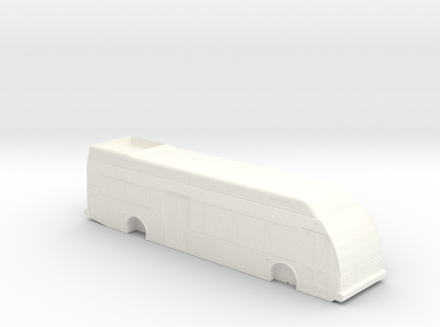 HO Scale Eldorado Axess BRT Fuel Cell Bus (solid) in White Strong & Flexible Polished