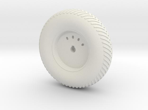 08B-LRV - Back Left Wheel in White Natural Versatile Plastic