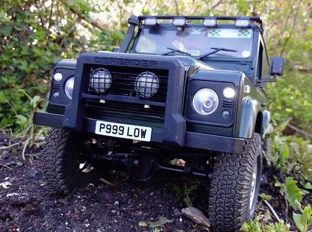 Defender A-Frame Protection Bar - Light Buckets in White Processed Versatile Plastic