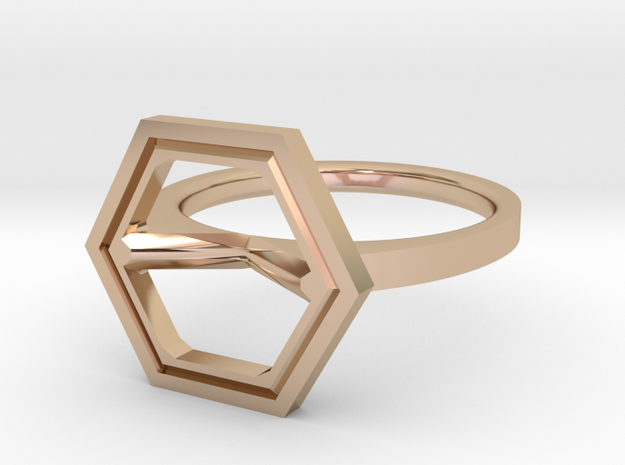 Minimal Hex Size 4½ in 14k Rose Gold Plated