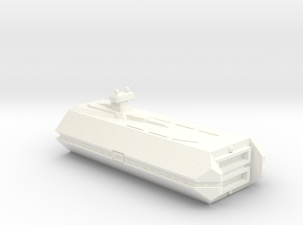 Imperial Fleet Carrier in White Strong & Flexible Polished