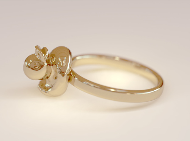 Rubber Duck Ring in 14k Gold Plated