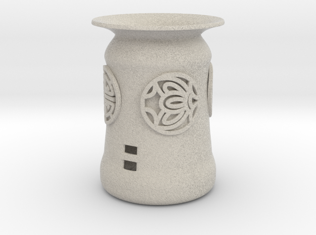 Hwa Bun Pot With Korean Symbols (002) in Natural Sandstone