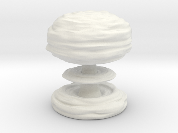 Huge Mushroom Cloud 30cm / 12in in White Natural Versatile Plastic
