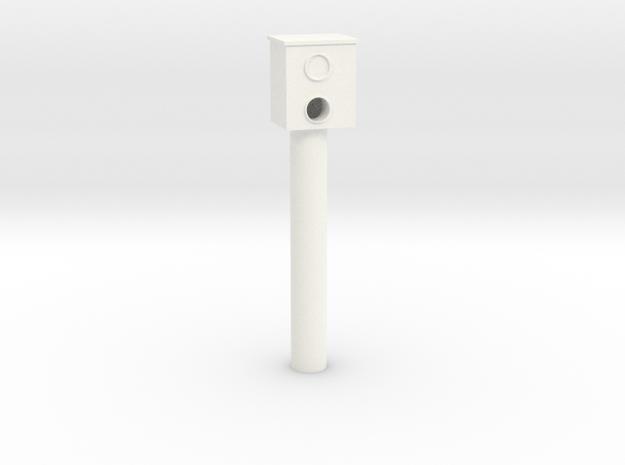 Stationary speed camera (Starenkasten) in White Processed Versatile Plastic