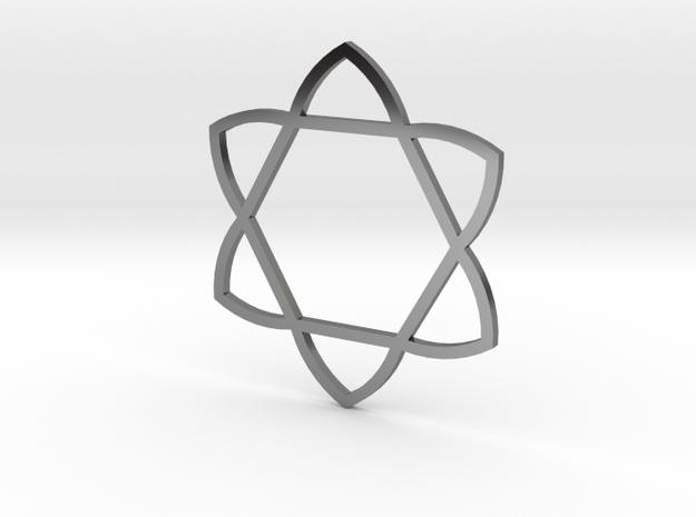 Mandala Pendant 3 in Fine Detail Polished Silver