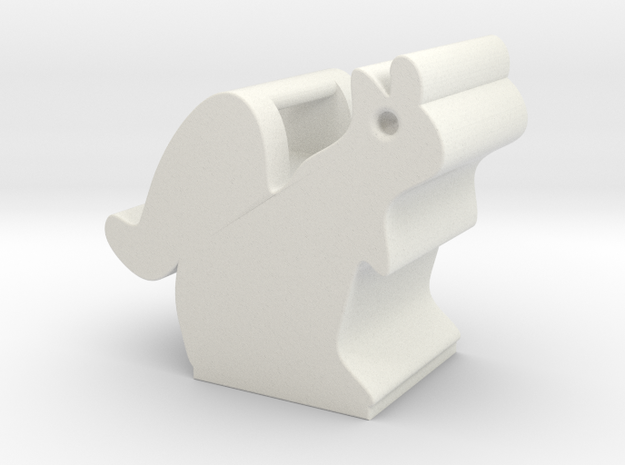 Obie the Oberlin Squirrel in White Natural Versatile Plastic
