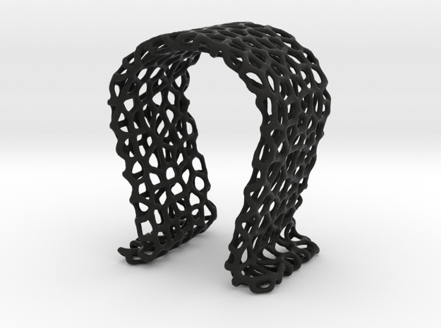 Omega Headphone Stand - Voronoi style in Black Natural Versatile Plastic
