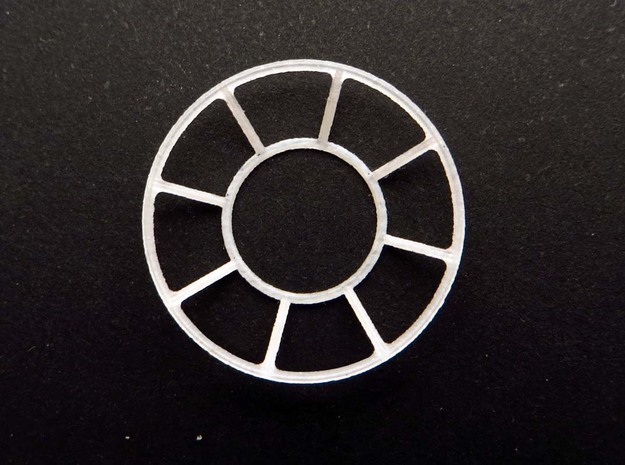YT1300 BANDAY 1/144 TURRET WELL WINDOW SET in Smooth Fine Detail Plastic