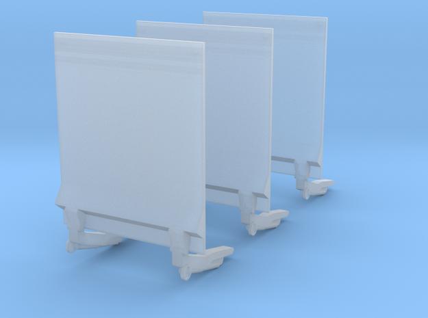 Ladebordwand für Transporter - 3 Stück 1/87 in Smoothest Fine Detail Plastic