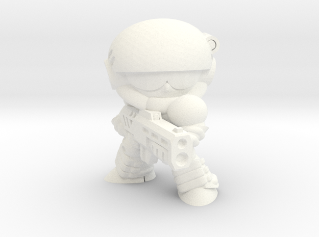 CORPORATION TROOPER (FIRING) in White Strong & Flexible Polished