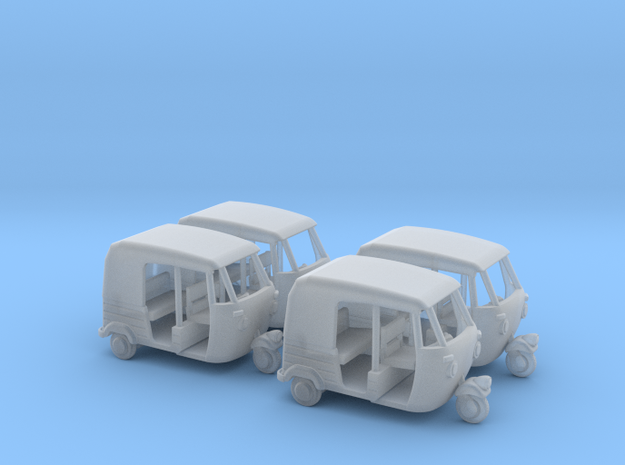 Auto Rickshaw / Tuk Tuk x4 HO-Scale 1:87 in Smooth Fine Detail Plastic