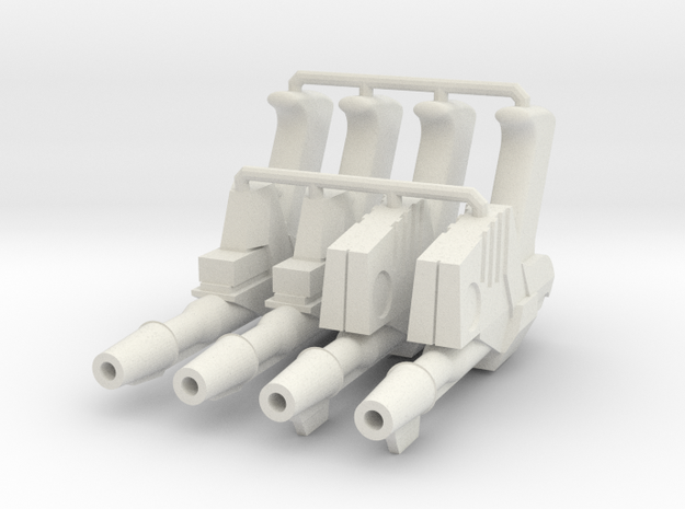 1:6 Sci-Fi Blasters Ported muzzle SF in White Natural Versatile Plastic